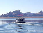 Missions boat on Lake Powell